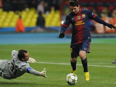 Messi Dribbling Around The Keeper
